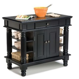 Home Styles Kitchen Island in Rich Multi Step Ebony 5092 94