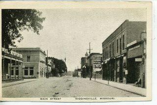 Higginsville Missouri Downtown Main Street Scene Vintage Postcard