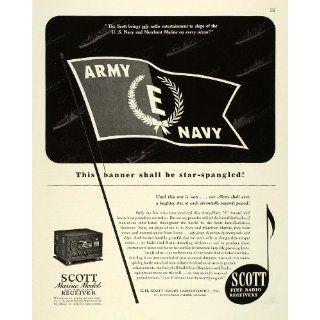 1943 Ad Scott Ship Marine Radio Receiver WWII War