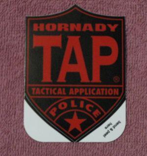 Hornady Ammunition Tap Tatical Application Police Vinyl Decal Sticker
