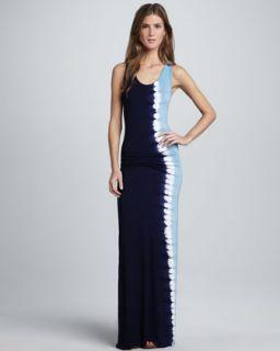 T621E Young Fabulous and Broke Hamptons Ombre Tie Dye Maxi Dress