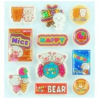 Cute Japanese Happy Color Stickers (Embossing) Toys
