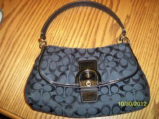 Coach Soho Signature Buckle Flap Purse F17093 Black $328
