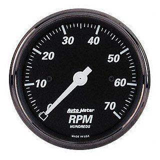 Auto Meter 1498 Black 3 1/8 7000 RPM Electric Tachometer