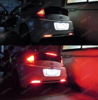 Honda CR Z Red Lens LED Bumper Reflector Lights