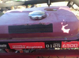 Honda Generator GX Series, Coleman Powermate, Fuel Tank, Gas, Portable