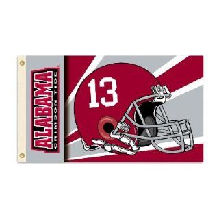 UNIVERSITY OF ALABAMA CRIMSON TIDE NCAA 3X5 #13 HELMET