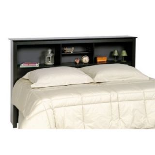 Double Queen Bed Storage Headboard Black