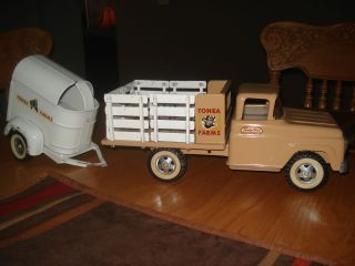 Tonka Farms Stake Truck Horse Trailer