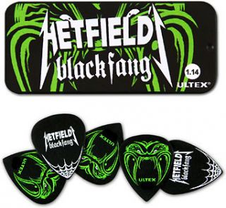 DUNLOP® JAMES HETFIELD BLACK FANG GUITAR PICK TIN 1.14mm (6 PACK