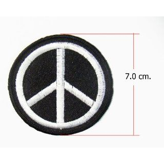1x Peace Emblem Embroidered Sew Iron on Patches 1 Pcs
