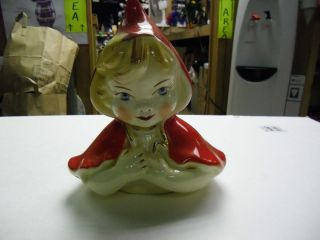 Hull Little Red Riding Hood Cookie Jar Top Lid Only