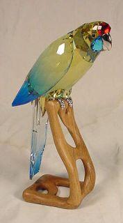 Swarovski Crystal Green Rosella Jonquil Bird Figurine #901601 NIB