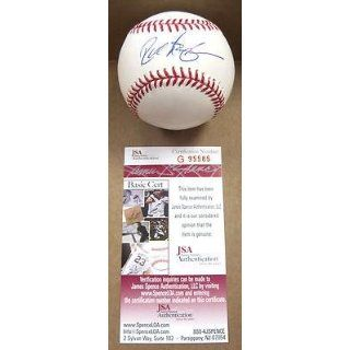 Rick Aguilera Signed Baseball   Twins mets Official M l W