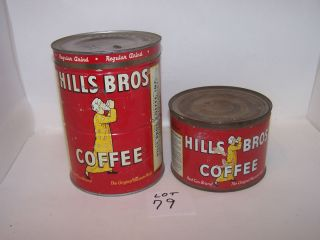 Old Empty Hills Bros Coffee Cans – Lot 79