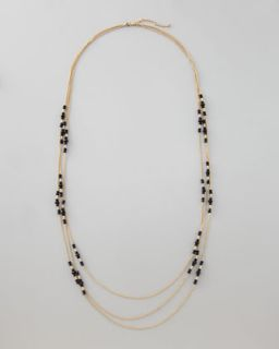 kate spade new york faux pearl multi strand chain necklace   Neiman