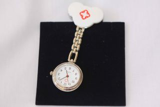 Pink Hello Kitty Nurse Battery Powered New Pocket Watch