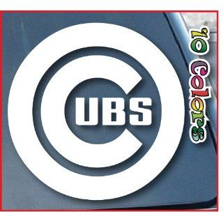 Chicago Cubs Car Window Vinyl Decal Sticker 4 Wide (Color