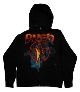 Starman Album Cover Logo Rock Band Zip Up Hoodie Hooded Sweatshirt