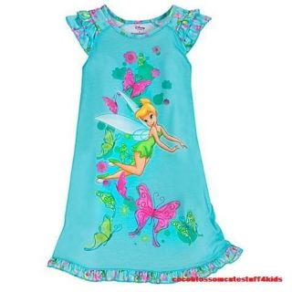 Girls 8 9 yrs Size 10 Disney Tinker Bell Nightshirt Nightgown $16 50