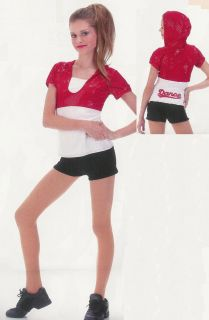 Step Up Hip Hop Jazz Dance Hoodie Costume Sz Choices