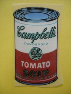 Campbells Soup Iron on Heat Transfer Patch Vintage Motif Applique