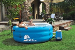 Person Portable Hot Tub Inflatable Bubble Spa Jacuzzi New