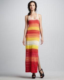 T5SMX Haute Hippie Knit Striped Racerback Maxi Dress