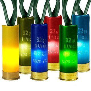 (35) Bulbs   Multi Color Shotgun Shell Christmas Lights