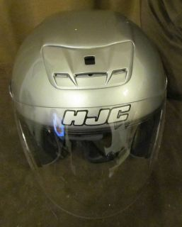 Grey HJC Motorcycle Helmet with Flip Face and Visor