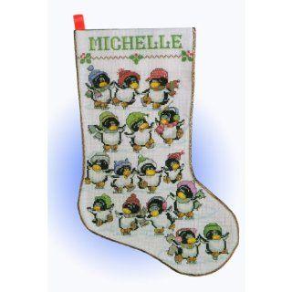 Design Works Skating Penguins Cross Stitch Kit Home