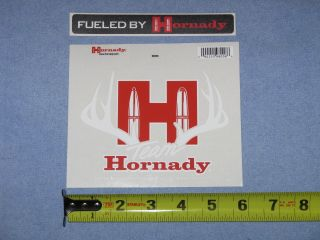 Team Antler Fuled by Hornady Ammunition 2 Two Vinyl Decals Stickers