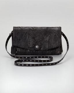 coleen snake print crossbody clutch bag black $ 248