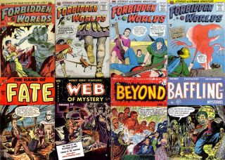 Golden Age Horror Strange Tales Comics in DVD Forbidden Worlds Web of