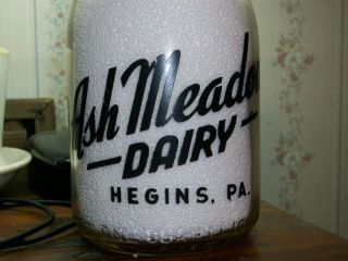 TRPQ HEGINS PA SCHUYLKILL COUNTY ASH MEADOW DAIRY FULL COW SCENE MILK