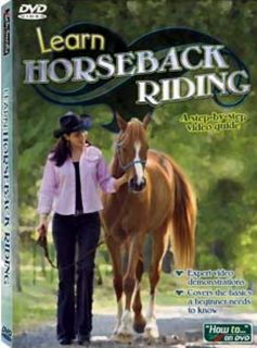 Learn Horseback Riding Instructional DVD Video Lessons SEALED New