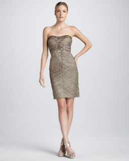 T5NF6 Sue Wong Beaded Strapless Cocktail Dress