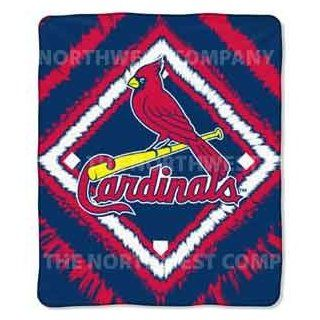 St. Louis Cardinals MLB Micro Raschel Burnout Throw 50x60