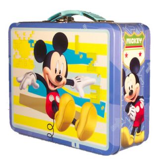 lunch box tote disney mickey mouse blue tin lunch box tote bring home