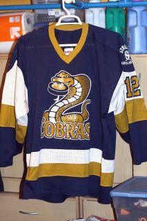 MINNESOTA COBRAS HOCKEY JERSEY GAME WORN ST PAUL MHL NAHL USHL NHL AHL
