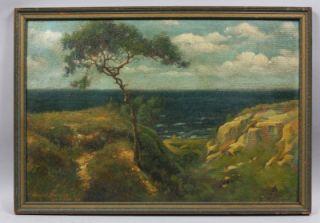Impressionist Oil Painting La Jolla Cliff San Diego Beach 30