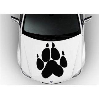 Hood Auto Car Vinyl Decal Stickers Animals Wolf Paw Dog