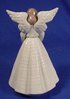 Retired Lladro Figurine Tree Topper ANGELIC CYMBALIST #05876