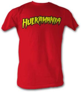 Hulk Hogan Red Hulkamania Wrestling Costume Licensed Adult Shirt s M L