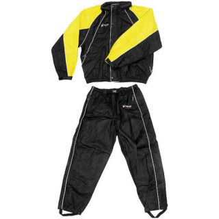 Frogg Toggs Hogg Yel Blk Motorcycle Harley Rain Suit
