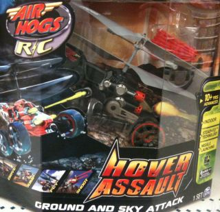NEW 2012 Air Hogs Hover Assault Radio Control Helicopter Black Ground