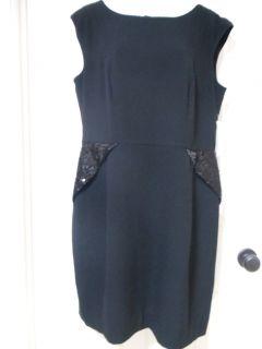 Helene Berman Classy Little Black Women Designer Cocktail Dress 12
