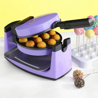 Babycakes Cake Pops Maker Donut Hole Nonstick Bakeware Purple
