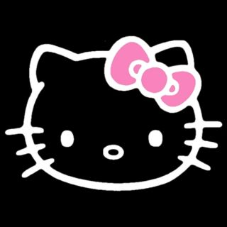 Hello Kitty Pink Bow Decal Car Window or Wall Sticker
