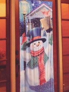 Christmas Door Decoration Cover Lights Up Plays Music